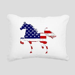 Patriotic American Gaited Horse Rectangular Canvas