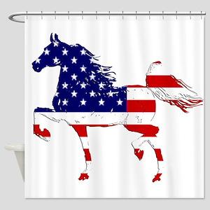 Patriotic American Gaited Horse Shower Curtain