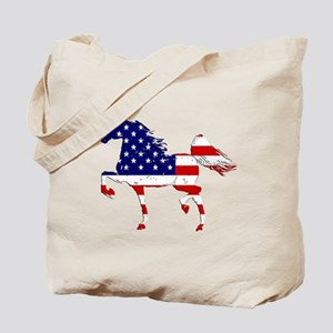 Patriotic American Gaited Horse Tote Bag