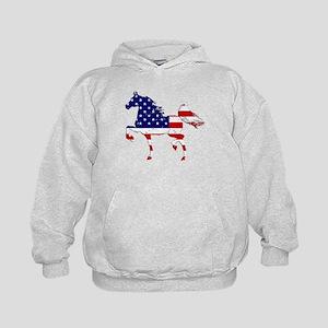Patriotic American Gaited Horse Hoodie