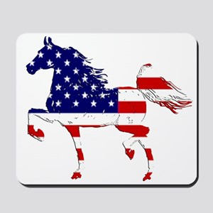 Patriotic American Gaited Horse Mousepad