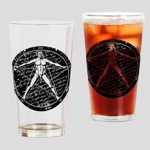 Agrippa Pentagram (black) No.1 Drinking Glass