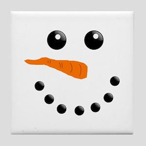 Christmas Snowman Tile Coaster