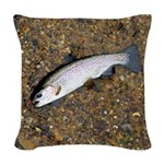 Taneycomo Rainbow Trout PS Woven Throw Pillow