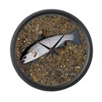 Taneycomo Rainbow Trout PS Large Wall Clock