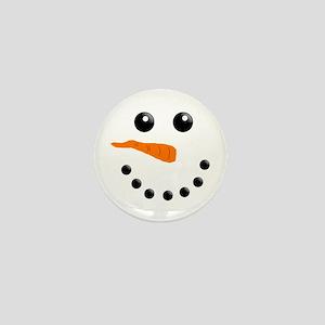 Christmas Snowman Mini Button