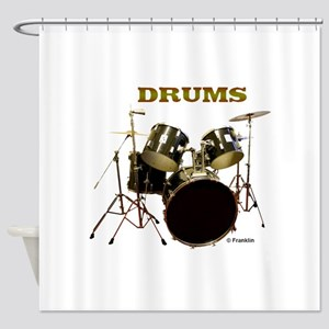 DRUMS Shower Curtain