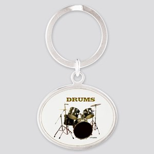 DRUMS Oval Keychain