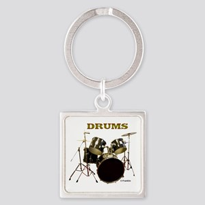 DRUMS Square Keychain
