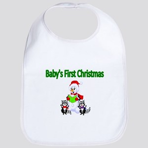 Babys first Christmas Bib