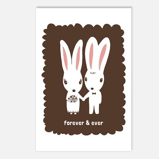 Bunnies Wedding Postcards (Package of 8)