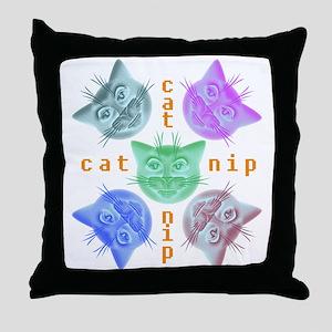 Kitties hours Throw Pillow