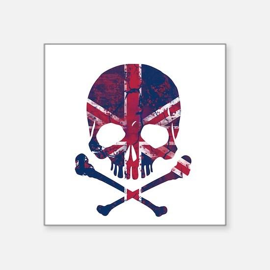 Union Jack Skull Sticker