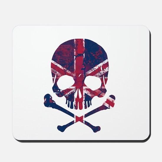 Union Jack Skull Mousepad