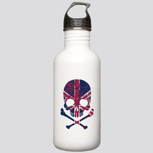 Union Jack Skull Water Bottle