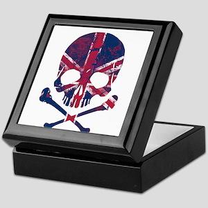 Union Jack Skull Keepsake Box