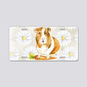 Watercolor Guinea Pig Aluminum License Plate