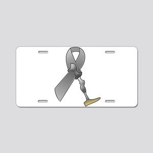 Amputee Ribbon Aluminum License Plate