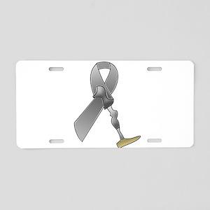 Amputee Ribbon Aluminum License Plate
