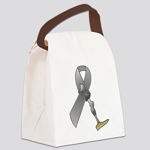 Amputee Ribbon Canvas Lunch Bag