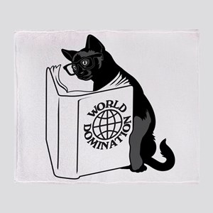 Cat World Domination Throw Blanket