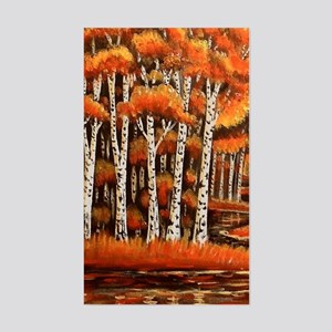 Birch Trees Sticker (Rectangle)