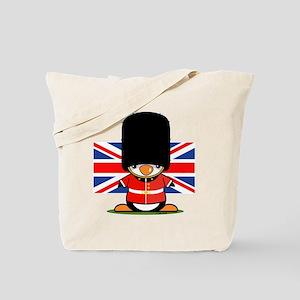 British Soldier Penguin Tote Bag