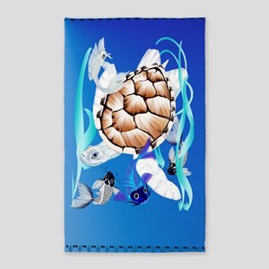 Area Rug b-Big White Turtle and Friends