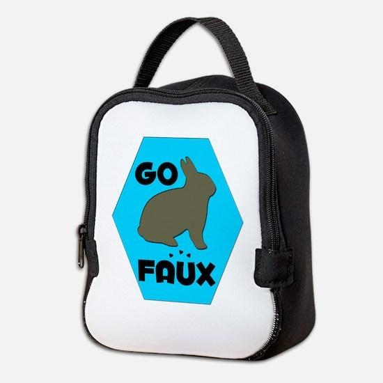 GO FAUX Neoprene Lunch Bag