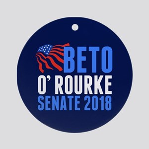 Beto O'Rourke Senate Round Ornament