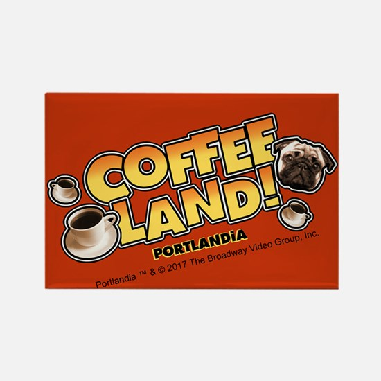 Portlandia Coffee Land Rectangle Magnet