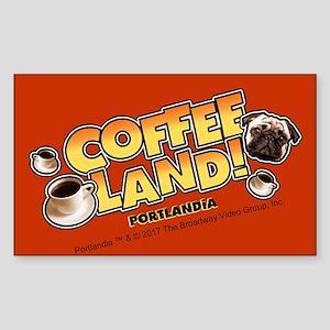 Portlandia Coffee Land Sticker