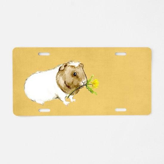 Watercolor Guinea Pig II Aluminum License Plate