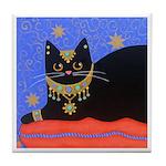 Black Moroccan CAT ART Tile