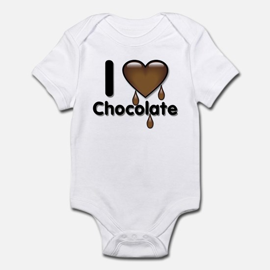 I Love Heart Chocolate Lover Infant Bodysuit
