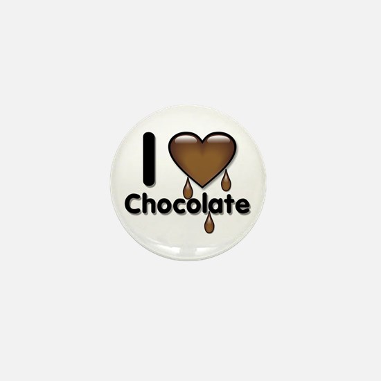 I Love Heart Chocolate Lover Mini Button