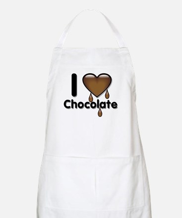 I Love Heart Chocolate Lover BBQ Apron