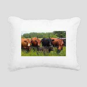 Simmentals Rectangular Canvas Pillow