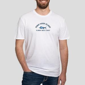 Anna Maria Island - Fishing Design. Fitted T-Shirt