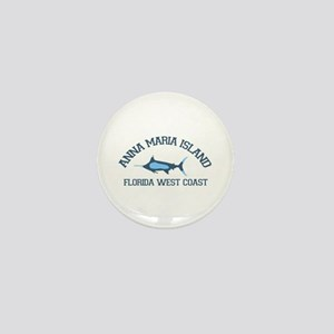 Anna Maria Island - Fishing Design. Mini Button