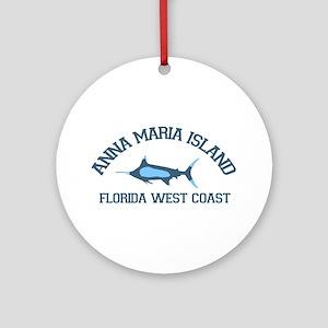 Anna Maria Island - Fishing Design. Ornament (Roun