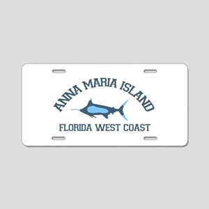 Anna Maria Island - Fishing Design. Aluminum Licen