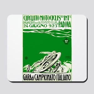 1923 Italian Motorcycle Race Poster Green Mousepad