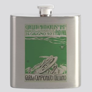 1923 Italian Motorcycle Race Poster Green Flask
