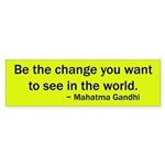 Mahatma Gandhi Quote Bumper Sticker
