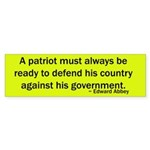 Edward Abbey Quote Bumper Sticker