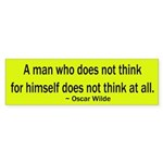 Oscar Wilde Quote Bumper Sticker