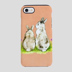 Watercolor Rabbits iPhone 7 Tough Case