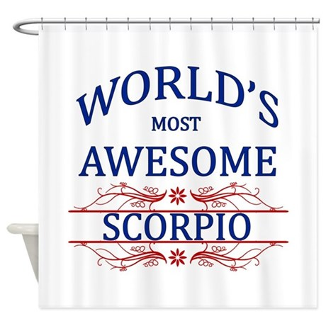 World's Most Awesome Scorpio Shower Curtain
