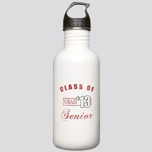 Class Of 2013 (Distressed, Red) Stainless Water Bo